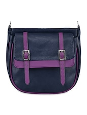 Purple Strap Leatherette Sling Bag - Baggit