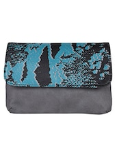 Printed Leatherette Clutch - Baggit