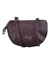 Dual Pocket Leatherette Sling Bag - Baggit