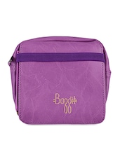 Solid Purple Leatherette Sling Bag - Baggit
