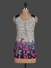 Animal Printed Sleeveless Polyknit  Top - Scarleti Western Wear