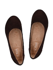 Brown Suede Wedges - My Foot