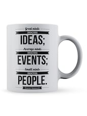 """Great Minds...People""  Quote Ceramic Mug - Lab No. 4 - The Quotography Department"