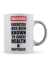 """Exercise... Happiness"" Gym Quote Ceramic Mug - Lab No. 4 - The Quotography Department"