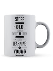"""Anyone...Learning...Eighty"" Quote Ceramic Mug - Lab No. 4 - The Quotography Department"