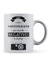 """Life Is...To Develop"" Quote Ceramic Mug - Lab No. 4 - The Quotography Department"