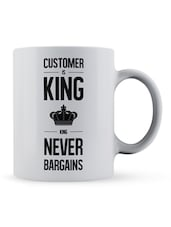 """Customer...Never Bargains"" Quote Ceramic Mug - Lab No. 4 - The Quotography Department"