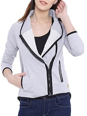 solid grey cotton jacket -  online shopping for jackets