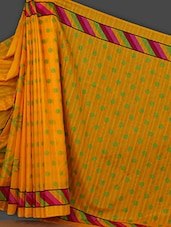 Yellow Polka Dots Printed Art Silk Saree - Rajesh Silk Mills
