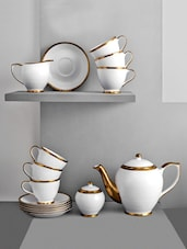 Solid Color Textured Tea Cup Set - Clay Craft