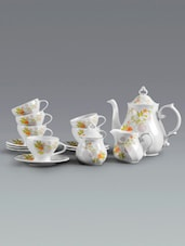 Floral Pattern Print Tea Cup Set - Clay Craft