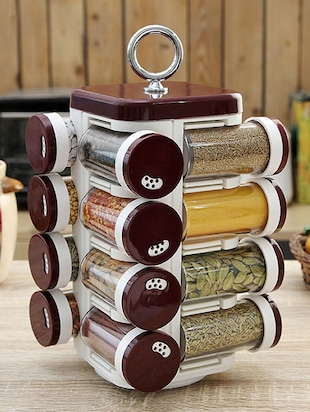 Solid Burgundy Spice Rack Set of Sixteen -  online shopping for Spice Racks