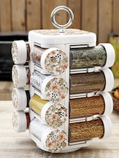 Floral Print Spice Rack Set of Sixteen -  online shopping for Spice Racks