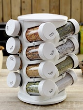 Solid White Spice Tower Set Of Sixteen - JVS