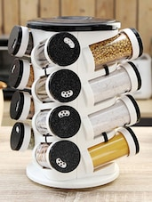 Black Spice Tower Set of Sixteen -  online shopping for Spice Racks