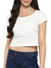 white none crop top -  online shopping for Tops