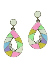 Drop Shaped Mosaic Earrings - Blend Fashion Accessories
