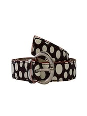 Robb Club Women Black And Brown  Artificial Leather Belt - By