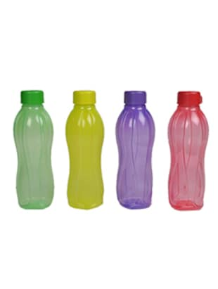 Tupperware Multicolour Round Plastic 1000 ML Bottle - Set of 4 -  online shopping for Bottles & Jugs