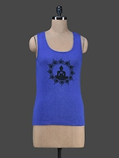 Blue Buddha Printed Tank Top - Vrtya
