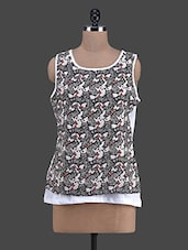 Printed Sleeveless Cotton Top - RUTE