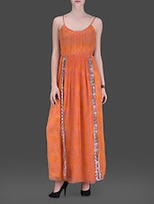Orange Printed Maxi Dress - LABEL Ritu Kumar