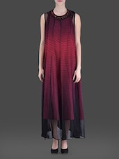 Black And Maroon Embellished Maxi Dress - LABEL Ritu Kumar