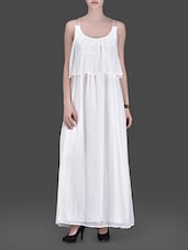 Off White Strappy Maxi Dress - LABEL Ritu Kumar