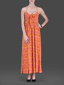 Buy Orange Printed Maxi Dress by Label Ritu Kumar - Online ... - photo #28