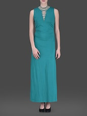 Sea Green Maxi Dress - LABEL Ritu Kumar