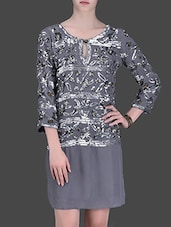 Grey Sequined Viscose Dress - LABEL Ritu Kumar