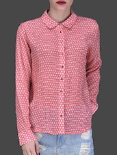 Pink Printed Viscose Shirt - LABEL Ritu Kumar