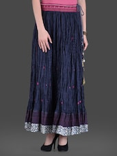 Dark Blue Moroccan Maxi Skirt - LABEL Ritu Kumar