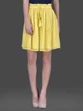 Yellow Georgette Short Skirt - LABEL Ritu Kumar