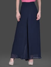 Navy Blue Palazzo Pants - LABEL Ritu Kumar