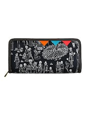 Fair Printed Navy Blue Wallet - FUNK FOR HIRE