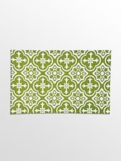 White And Green Cotton Kitchen Towel Set - Malang