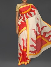Sun Printed Kerala Cotton Saree - Komal Sarees
