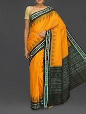 Yellow Cotton Sambhalpuri Katki Saree - Komal Sarees