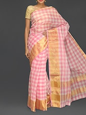 Printed Zari Handloom Cotton Saree - Komal Sarees