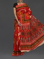 Floral Print Matka Cotton Saree - Komal Sarees
