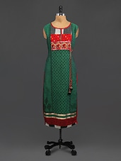 Multicolored Cotton Printed Kurti With Mirror Work - By