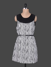 Zebra Printed Sleeveless Short Dress - Oviya