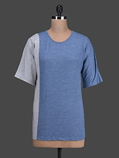 Blue Cotton Knit Tunic - Oranje