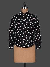 Long Sleeves Polycrepe Printed Shirt - AARDEE