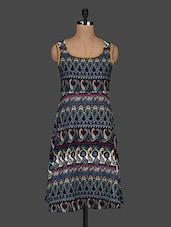 Paisley Printed Polycrepe Dress - AARDEE