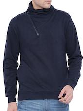 navy blue cotton sweatshirt - online shopping for Sweatshirts