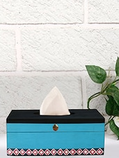 Rang Rage Hand-painted Monochrome Magic Mangowood Tissue Box - By