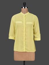 Mandarin Collar Long Sleeves Solid Shirt - AVIDDIVA