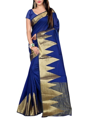 blue cotton saree -  online shopping for Sarees
